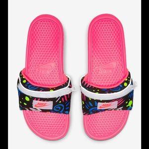 Nike Benassi JDI Fanny Pack Printed Slide Sandals